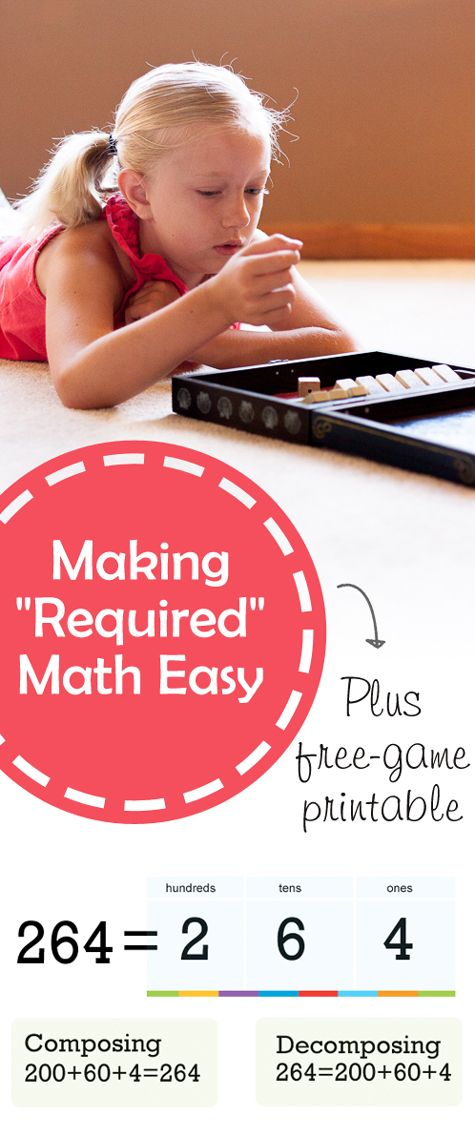 "{Making ""Required"" Math Easy + Free Printable} *Fun way to stay ahead of summer slide"
