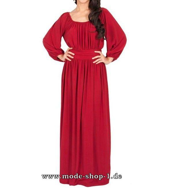 Lässiges Maxi Sommerkleid in Rot