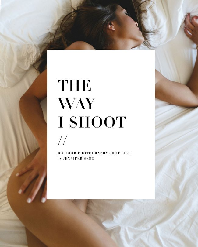 Boudoir Photography Shot List  Digital Copy  Inspiration