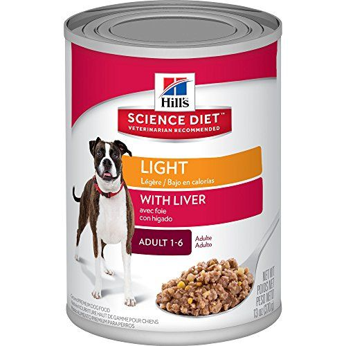 Hill's Science Diet Adult Light with Liver Canned Dog Food, 13 oz, 12-pack - http://www.bunnybits.org/hills-science-diet-adult-light-with-liver-canned-dog-food-13-oz-12-pack/