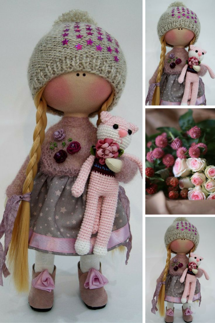 Fabric doll Cloth doll Winter doll Handmade doll Grey doll Tilda doll Interior doll Textile doll Nursery doll Decor doll Rag doll by Ksenia