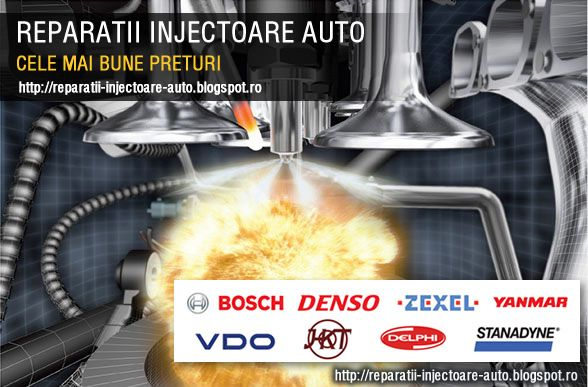 http://reparatii-injectoare-bucuresti.blogspot.com/  Reparatii Injectoare Injectorul reprezinta partea componenta a instalatiei de alimentare a motoarelor cu aprindere prin comprimare(motoare diesel). Prin intermediul injectorului se efectueaza operatia de introducere a combustibilului pulverizat in camera de ardere a motorului(la o anumita presiune, pe o anumita directie, cu o anumita forma a jetului) in functie de ordinea de lucru a cilindrilor. Motoarele autovehiculelor folosesc…