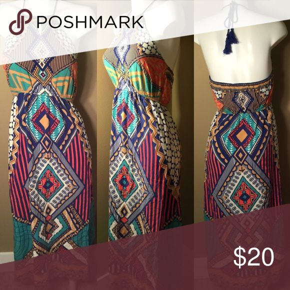 Maude Tribal Maxi Dress Used but in good condition maude Dresses Maxi