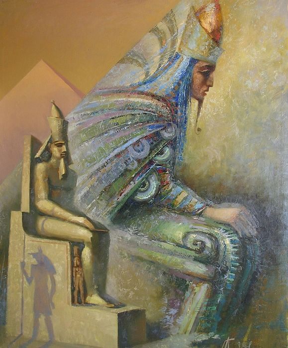 Shadows by Valentina Kondrashova. #OilOnCanvas #OriginalForSale #Painting #Hatshepsut #Queen #Art #ArtForHome #ArtCollectors #RussianArtistsNewWave #Egypt