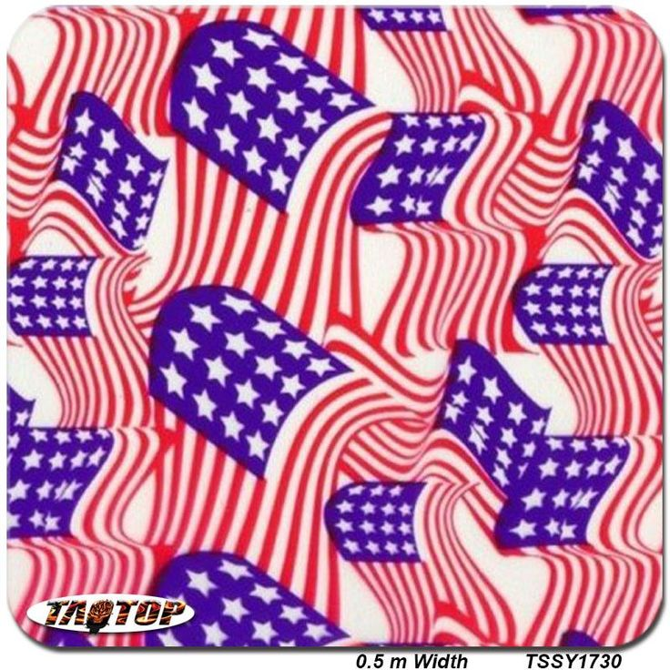 TSSY1730 0.5m *2M Popular American Flag pva water soluble water transfer printing film hydrographic film