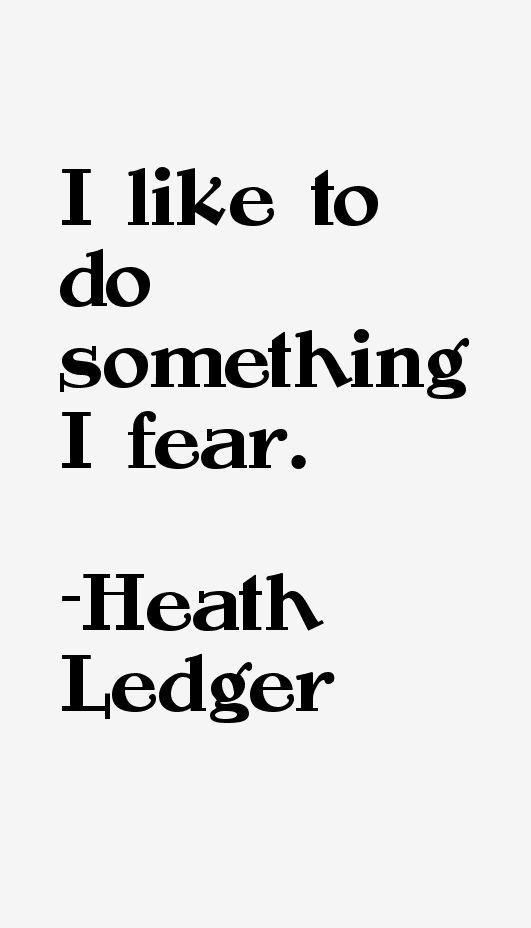 Heath Ledger Quotes