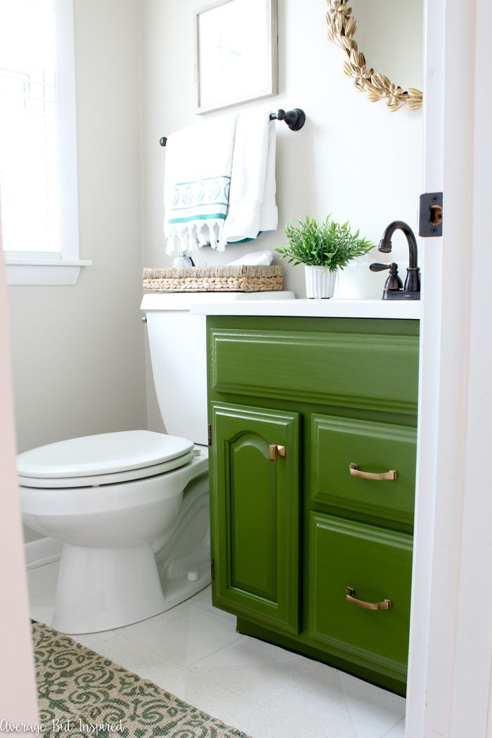 A Dated Powder Room Gets A Bold Makeover Average But Inspired