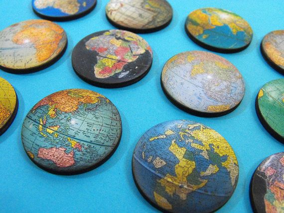 Wooden Vintage Globe Cuts  12 Different Laser Cut by porkchopshow (Craft Supplies & Tools, Scrapbooking Supplies, Scrapbooking Paper, porkchop, wood pendant, woodcut, die cut, laser wood, birch plywood, wood craft, craft wood, world, map, cut out, earth, planet)