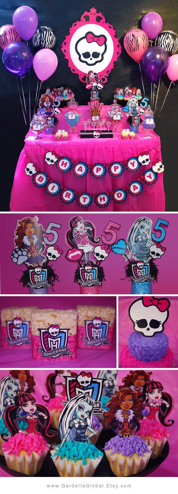 handmadest birthday party invitations%0A Monster High Invitation Monster High invite por GardellaGlobal    Monster  High Birthday CakeMonster