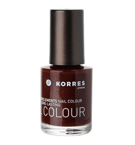 KORRES Nail Polish Colour 54 Sparkly Red | Acetone & Formaldehyde FREE #KORRES #acetonefreenailpolish