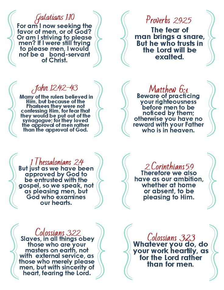 The Blogging Pastors Wife: Printable Verse Cards On People Pleasing