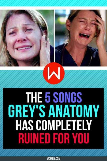 You'll never be able to listen to these again. The 5 songs grey's anatomy has completely ruined for you - Chasing Cars, Grey's Songs, Grey's Anatomy soundtrack.