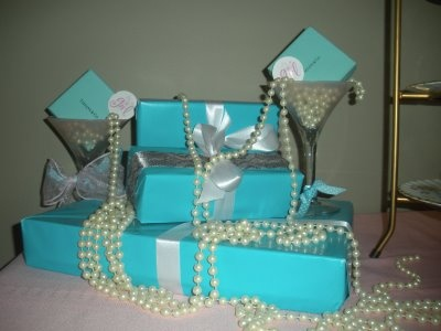 Breakfast at Tiffany's centerpieces