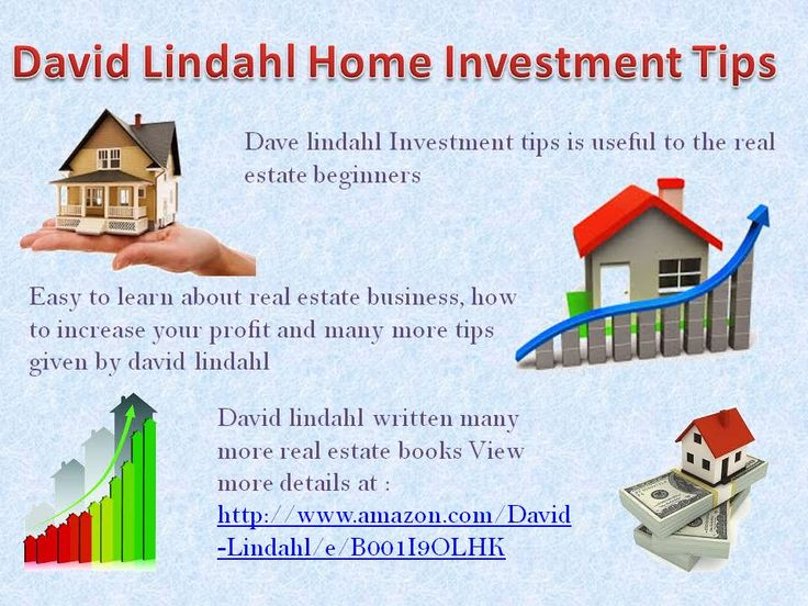 Get useful david lindahl real estate tips and increase your high profit in market. You get the business strategies and important tricks.