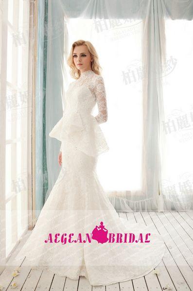 Beautiful Lace peplum wedding dress