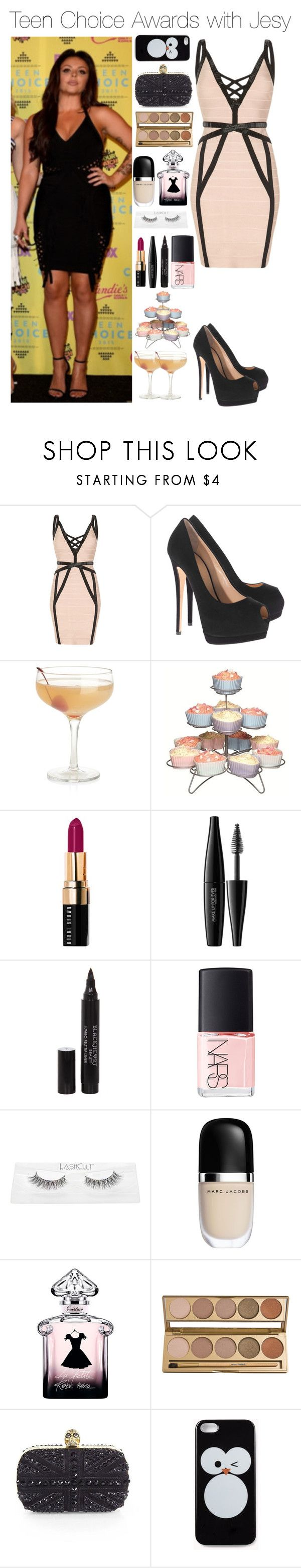 """""""Teen Choice Awards with Jesy"""" by xhoneymoonavenuex ❤ liked on Polyvore featuring Giuseppe Zanotti, Crate and Barrel, Sweetly Does it, Bobbi Brown Cosmetics, MAKE UP FOR EVER, Hot Topic, NARS Cosmetics, Guerlain, Jane Iredale and Alexander McQueen"""