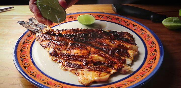 Pescado a la Talla Recipe adapted from Johnny Hernandez, El Machito, San Antonio, TX The fish draws flavor from toasted guajillo peppers, onion and garlic blitzed with achiote paste. Then, like everything else at El Machito, it's kissed with the sweet wood smoke of Hernandez's monster grill.