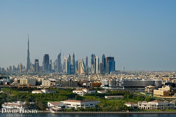 Dubai view from Hilton Dubai Creek. David Henry Photography