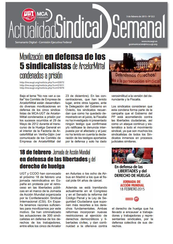 Ha salido Actualidad Sindical Semanal 322 http://mcaugt.org/noticia.php?cn=22149