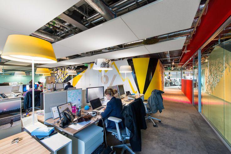 Google Campus Dublin | Google Docks - Office Space - Floor Identity: Create #GoogleDublin, #Office, #WallGraphics