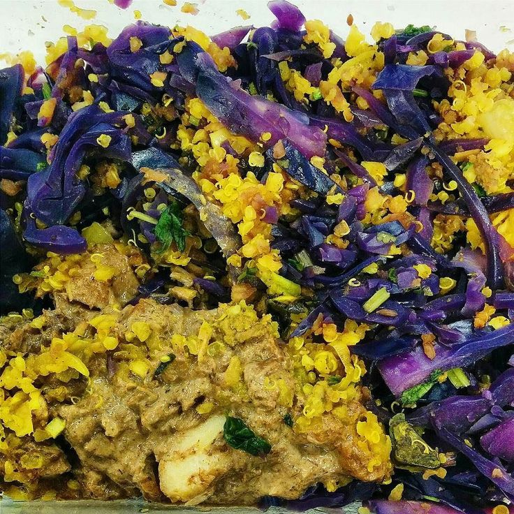 Keeping things bright and colourful:) Whats for lunch?  Yellow curry wild cod with turmeric quinoa and purple cabbage.  #candidacleanse #candida #vancitybuzz #vancouvereats #yvrfoodblogger #yvrfood #vancityeats #vancityfood #604eats#gastropost #nosugar #sugarfree #glutenfreelife #glutenfree by rosycheeksproject