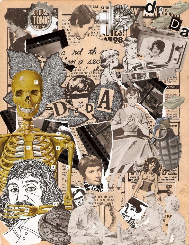 collage for a class at school dada party