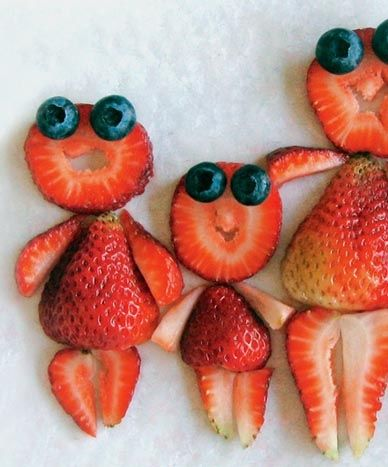 berry happy family food art