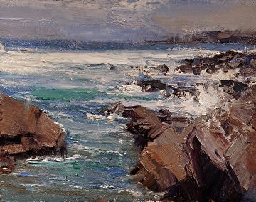 "Pacific Breakers by Mike Wise Oil ~ 8"" x 10"""