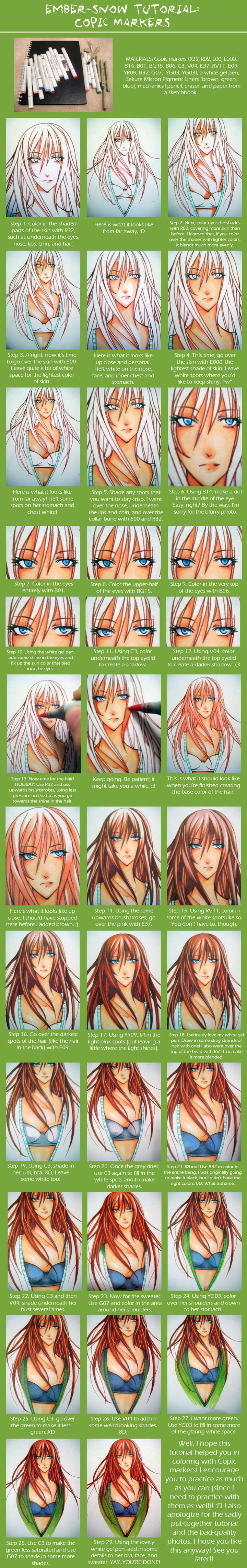 TUTORIAL: Copic Markers by =ember-snow on deviantART