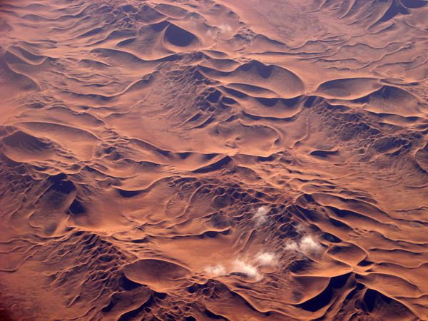 Algerian Sahara from airplane again