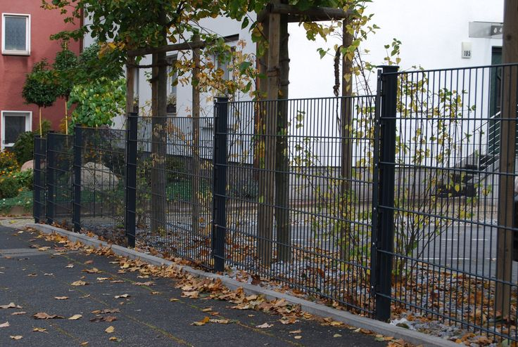 50m Gartenzaun 1,23m anthrazit RAL 7016 Zaun Pinterest - gartenzaun metall anthrazit