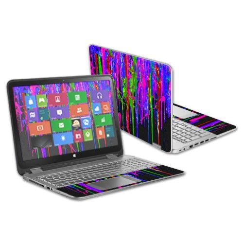 """MightySkins Protective Vinyl Skin Decal for HP Pavilion X360 13.3"""" Touch Laptop cover wrap sticker skins Drips"""