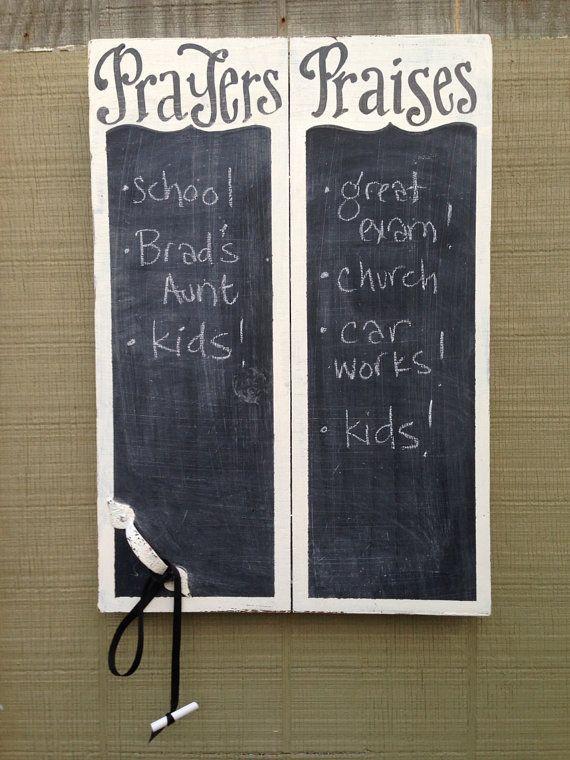 Prayers and Praises Chalkboard - verse of week - scripture board