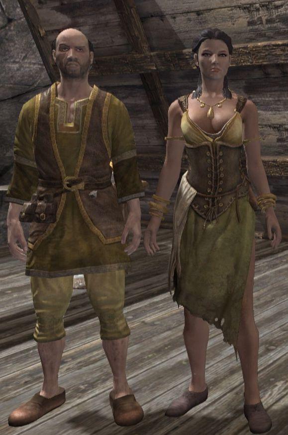 skyrim how to get tavern clothes