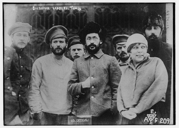 Лидеры большевиков в Томске, 1910-1920-е г.г. (уточняется). Из коллекции Джорджа Грэнтэма Бэйна (Библиотека Конгресса США) / 1604.ru - Фотоархив доцифровой эпохи