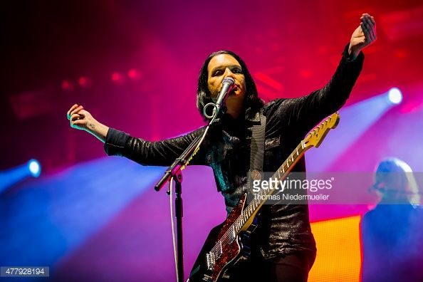 Brian Molko of Placebo performs during day 2 of Southside Festival on June 20, 2015 in Neuhausen, Germany.