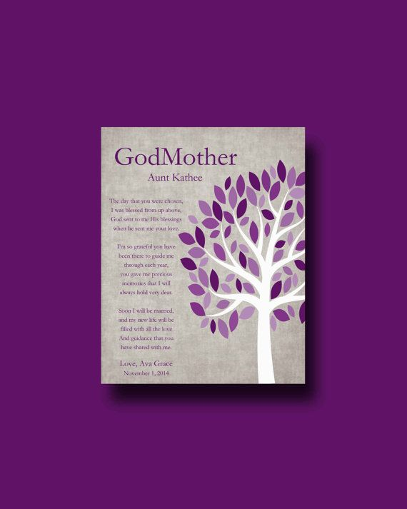 Godmother Wedding Gift: Godmother Gift FROM BRIDE On