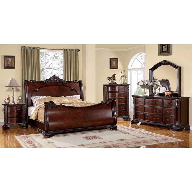 Complete The Look Of Your Bedroom With This Luxurious Sleigh Bed Set With  Its Intricate Baroque. Luxury Bedroom SetsMen BedroomMaster ...