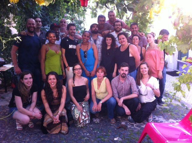 Shiadu staff at Casa do Pátio...