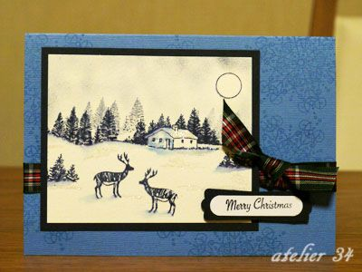 Christmas card 2012 with Hobby Art stamps.