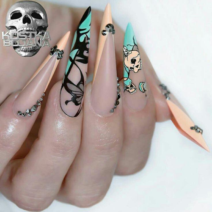 31 best 11 Edge Nails images on Pinterest | Edge nails, Sharp nails ...