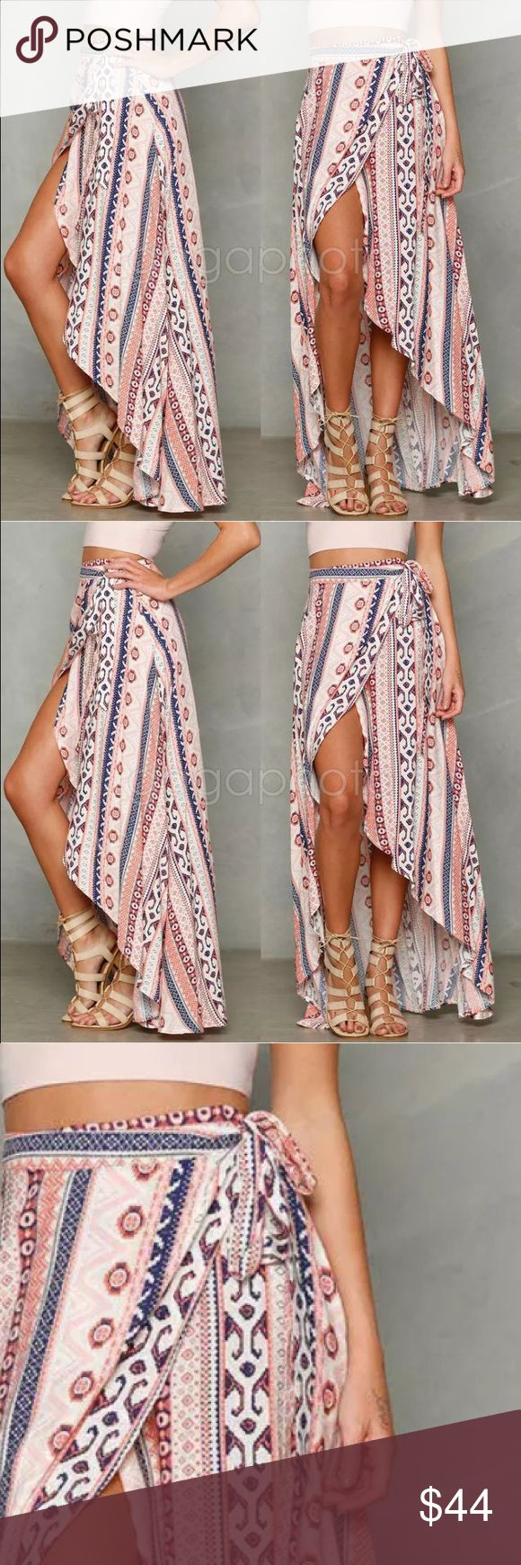 ‼️ COMING SOON ‼️  Coming Soon  Sweet and girly BOHO summer wrap-a-round maxi skirt. This skirt is just adorable! Skirts Maxi