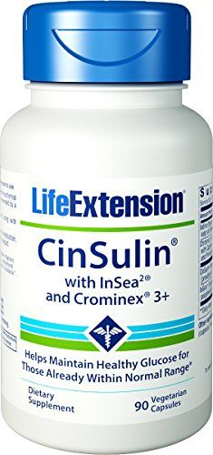 Life Extension CinSulin w InSea2 and Crominex 3 90 vegetarian caps >>> Find out more about the great product at the image link. (It is an affiliate link and I receive commission through sales)