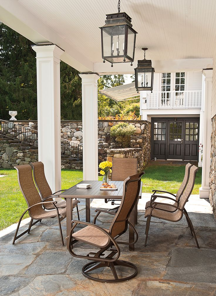 Beautiful This Patio Set From The Telescope Cape May Sling Collection Is Ultra Slim,  Lightweight, And Designed For Comfort And Support.