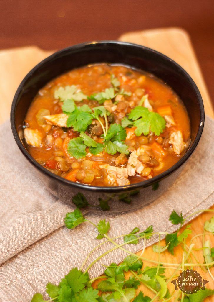 siła smaku: Gęsta zupa z kurczakiem i soczewicą