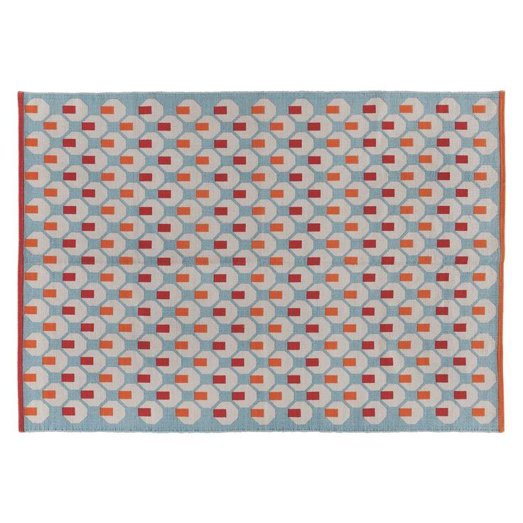 OCTO Medium multi-coloured cotton rug 140 x 200cm | Buy now at Habitat UK