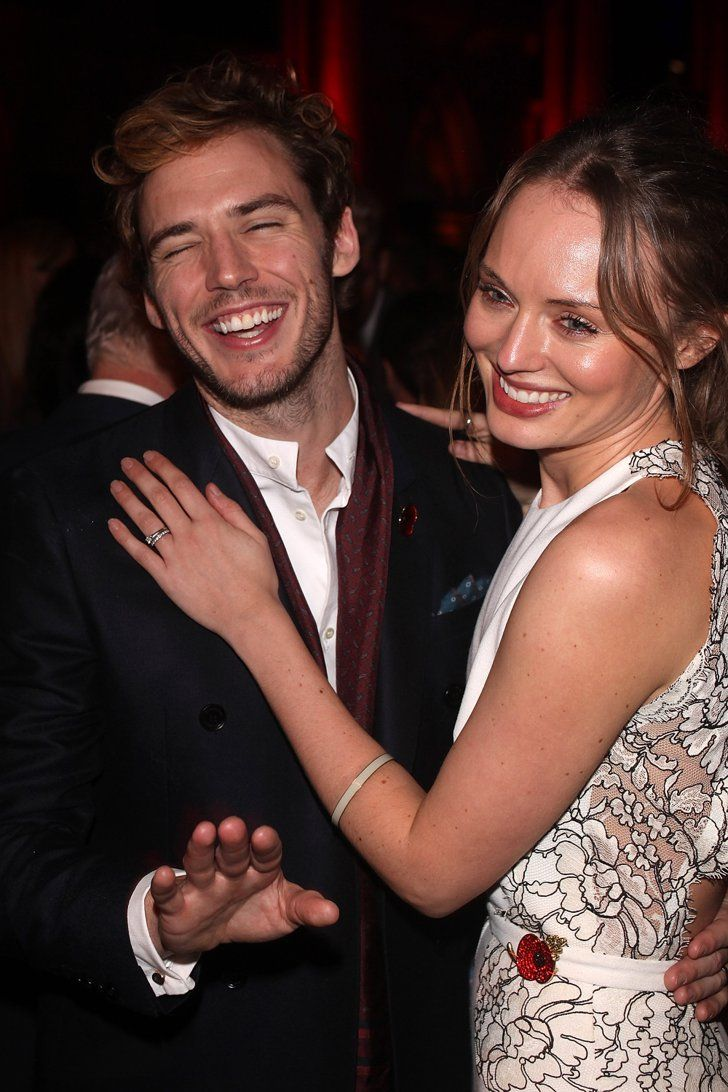 Pin for Later: Sam Claflin and Laura Haddock Are the Cutest Red Carpet Couple Ever When They Decided It Was Time to Turn the Cameras Off