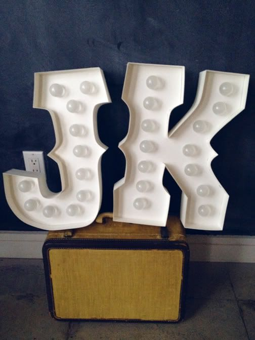 DIY marquee letters PERFECT!! My initials! :)