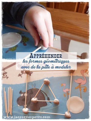 Apprendre les formes géométriques en maternelle, avec de la pâte à modeler |La cour des petits