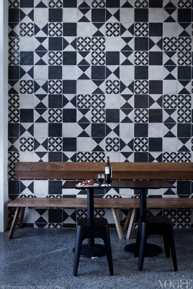 Cipro Pizza Sydney Handmade tiles can be colour coordinated and customized re. shape, texture, pattern, etc. by ceramic design studios